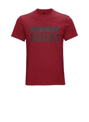 Jack Wolfskin Jack Wolfskin Brand T M Erkek Tişört 1807441-2027 1807441-2027003 Kırmızı